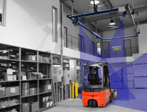 Nouveau système de mensuration de marchandises sur palettes – l'APACHE Flying Forklift